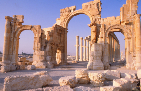 Palmyra, or tadmor is as ancient Syrian city,in which temple of bel was recently destroyed by Isis.