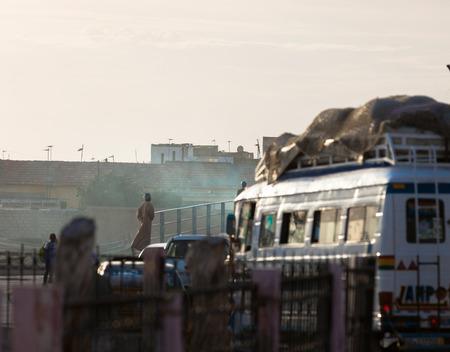 urban life: Urban life in the streets of Saint louis, Senegal