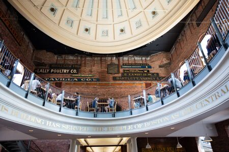 boston tea party: Quincy market, food market  in Boston, Massachussetts Editorial