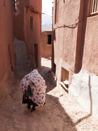 persia: The caratheristic old village of Abyaneh, Persia Stock Photo