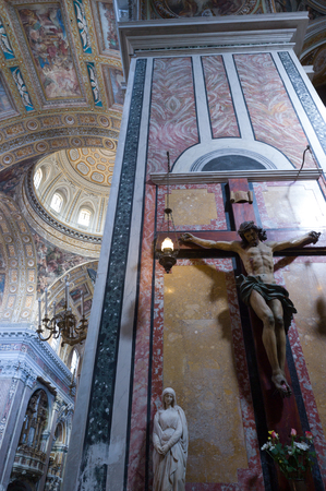 mistery: Catholic church of Gesu Nuovo, Naples, Italy