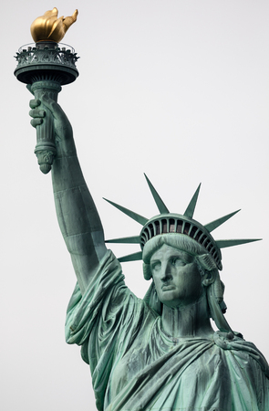 statue: The Statue of Liberty is a colossal neoclassical sculpture on Liberty Island  in New York City