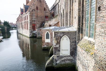 patronage: Bruges, pictoresque city in Belgium Stock Photo