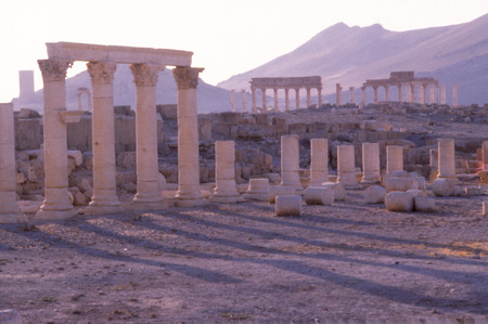Palmyra, or tadmor is as ancient Syrian city,in which temple of bel was recently destroyed by Isis. Imagens