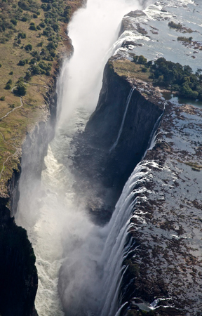 discovered: Victoria Falls, discovered by David Livingstone in 1865,  from Zambia side