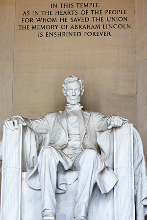 The Lincoln Memorial attraction and lamdmark in Washington DC