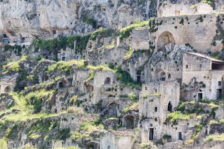 troglodyte: Matera, in  Italy with its caratheristics Sassi, troglodyte houses