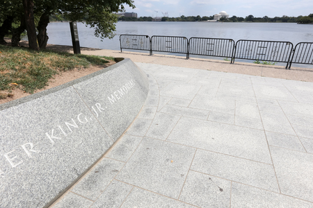 martin luther king: August 2015,Washington DC, The Martin Luther king memorial Stock Photo
