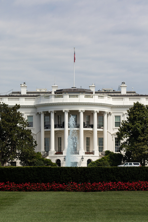 residency: View of the White House, the residency of president of USA Stock Photo