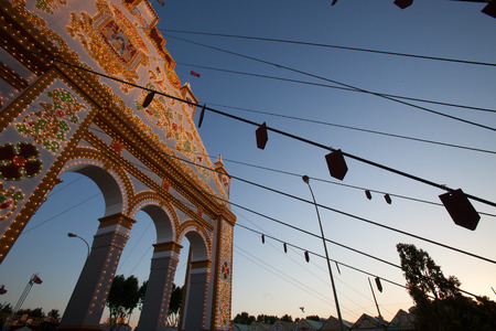 courteous: feria de April, traditional feast in Seville, Spain