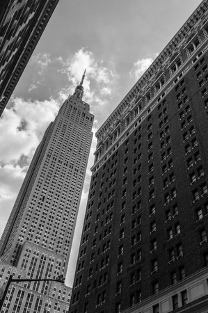 the view from below: New York, Manhattan view from below Stock Photo