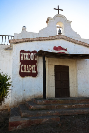gunfights: western theme park in Tabernas, Andalusia Spain Stock Photo