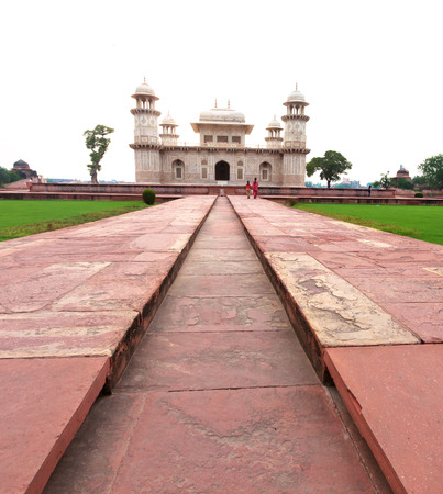 precursor: The Baby Taj.  The tomb is the precursor to the Taj Mahal as it was built by Nur Jahan for her father, Mirza Ghiyas Beg