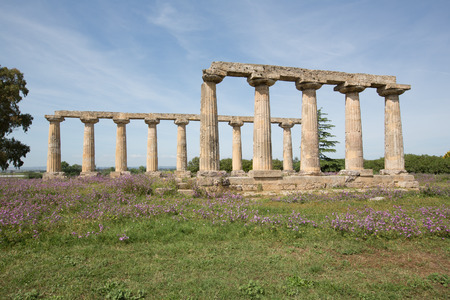 palatine: Palatine Tables, Hera Sanctuary in Metaponto, Basilicata, Italy