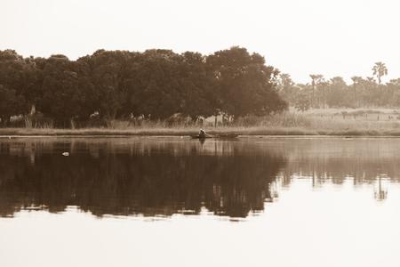 burkina faso: Panorama of Tengrela Lake in Burkina faso