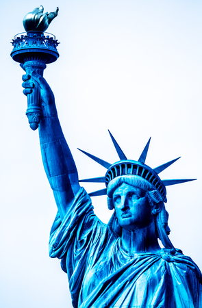 colossal: The Statue of Liberty is a colossal neoclassical sculpture on Liberty Island  in New York City