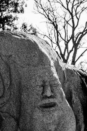 heros: Ouagadougou, Burkina Faso. Loango Sculpture Park in  showcases over 170 sculptures made by 18 sculptors of  13 countries.
