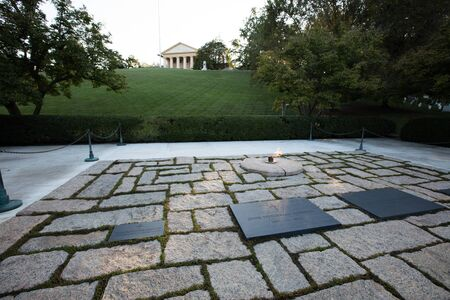 The memorial of JF Kennedy in Arlington cemetery, Washington