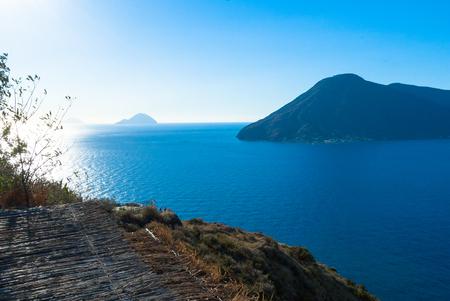 panarea: Seaview of the Aeolian islands from Lipari.