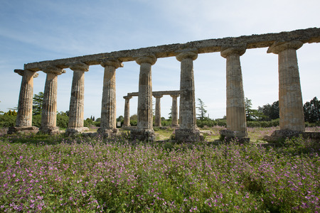 architectural architectonic: Palatine Tables, Hera Sanctuary in Metaponto, Basilicata, Italy