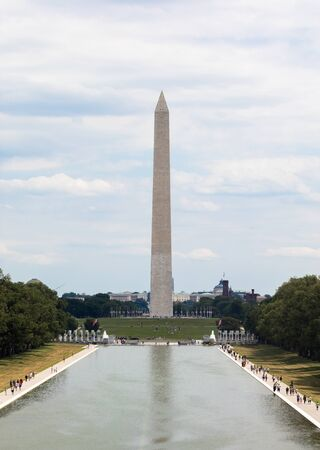 see the usa: washington DC, view of the famous obelisk.
