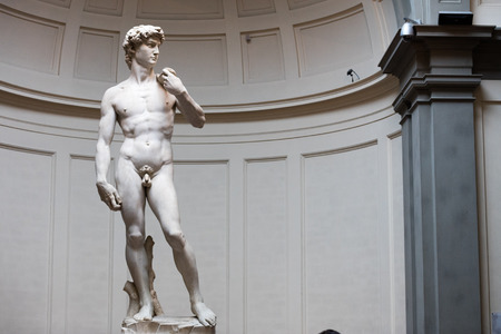 Florence, Italy 15.06.2016. Statiue of David di Michelangelo in Galleria dellAccademia