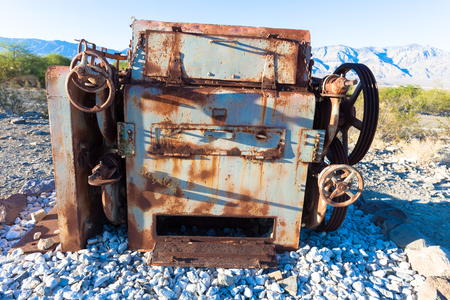 old tractor: Old Tractor, Death Valley, California