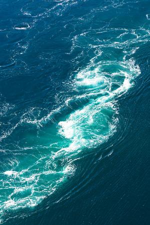 vortices: Maelstrom, natural phenomenon of whirlpool, called saltstraumen, Norway Stock Photo