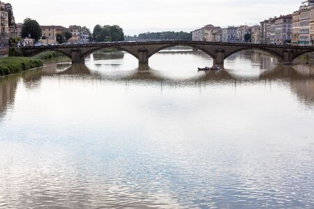 arno: View of l bridge on the Arno river,  Florence, Italy Stock Photo