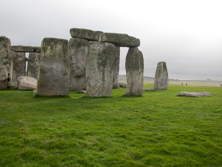 View of the stonhenge site near Wiltshire, England