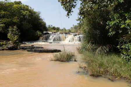 burkina faso: Karfiguela  falls in  Banfora, Cascades region , Burkina Faso Stock Photo