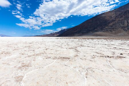 Salted lake in the Death Valley, California, USA