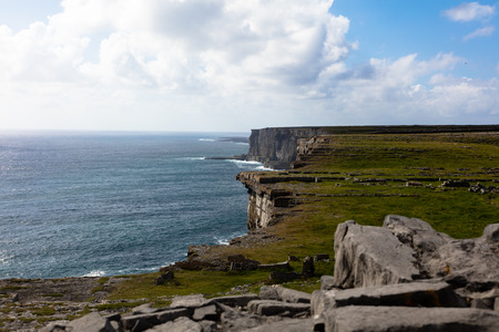 Typical panorama in Inish more, the biggest of Aran Islands, Ireland Stock Photo