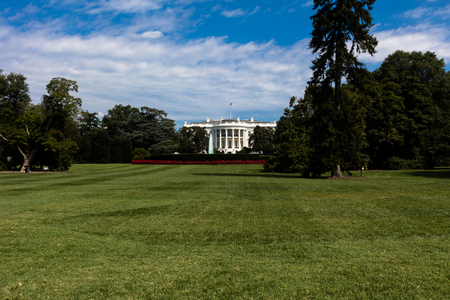 View of the White House, the residency of president of USA Stock Photo