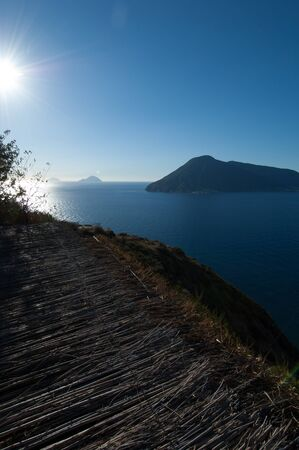 lipari: Seaview of aeolian islands from Lipari.