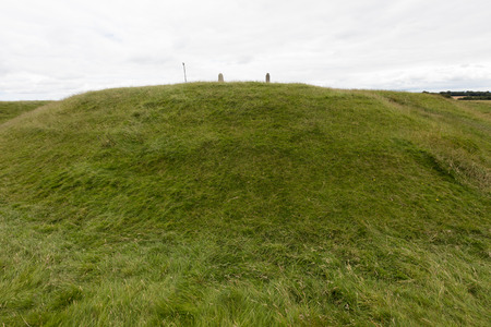 meath: The Hill of Tara, located near the River Boyne, is an archaeological complex that r contains a number of ancient monuments and,was the seat of the High King of Ireland. Stock Photo