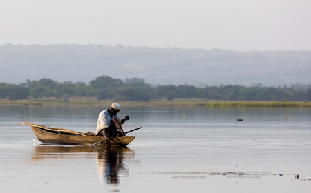 Panorama of Tengrela Lake in Burkina faso