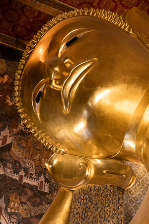 December 4, 2016; Bangkok, Thailand, Reclining golden Buddha in Wat Pho