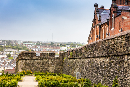 old town guildhall: The walled city of Derry in Northern Ireland Stock Photo