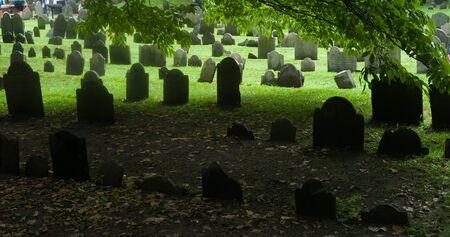 Boston, Massachusetts,. Granary Burying Ground - old cemetery. Stock Photo
