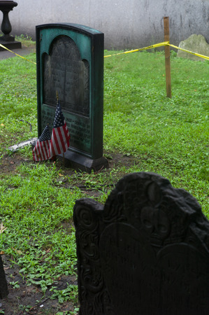 Boston, Massachusetts,. Granary Burying Ground - old cemetery. Editorial
