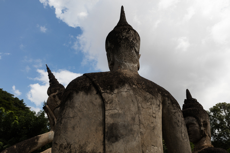 November 23 2016 Vientiane, Laos   Religious statues at Wat Xieng Khuan Buddha park.