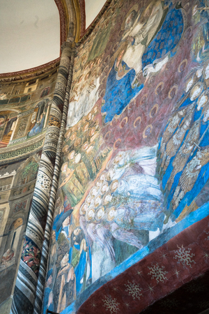 May 22  2016, Chapel Caracciolo del Sole in San Giovanni a Carbonara, a Gothic church in Naples, Italy.