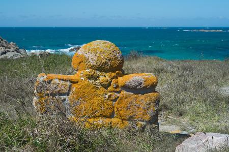 ガリシア州の死 Cioast ジョドパーズ灯台 写真素材