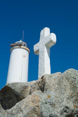 Costa de la Muerte con faro en Galicia
