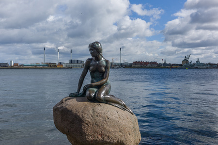 The little mermaid,the statue symbol of Copenhagen