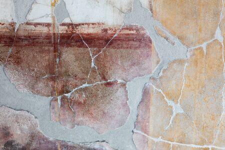 APRIL 3, 2016. Torre Annunziata (Naples), Italy Ancient roman fresco represented a scene of Roman mitology in the Poppea's Villa