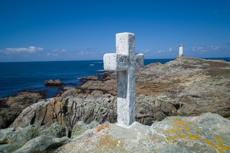 Death Coast with lighthouse in Galicia