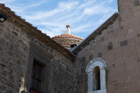 Ancient medieval streets of Caserta Vecchia. Italy Stock Photo