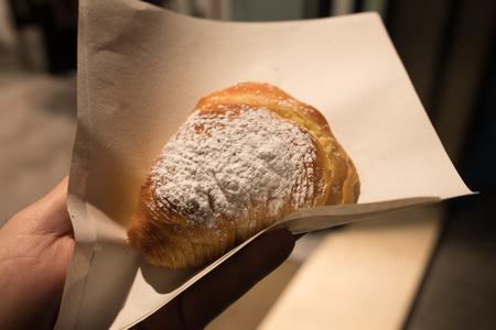 Typical neapolitan Italy sweet called sfogliatella